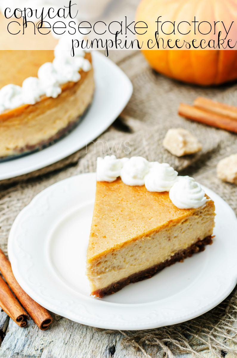 Pumpkin Cheesecake Recipe  cheesecake factory pumpkin cheesecake