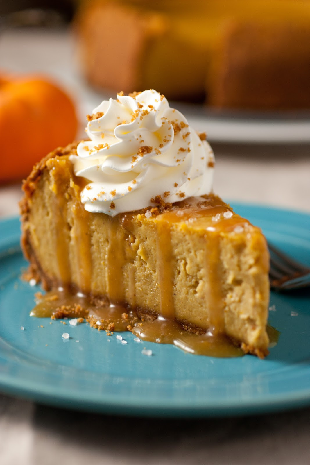 Pumpkin Cheesecake Recipe  October 21 is National Pumpkin Cheesecake Day