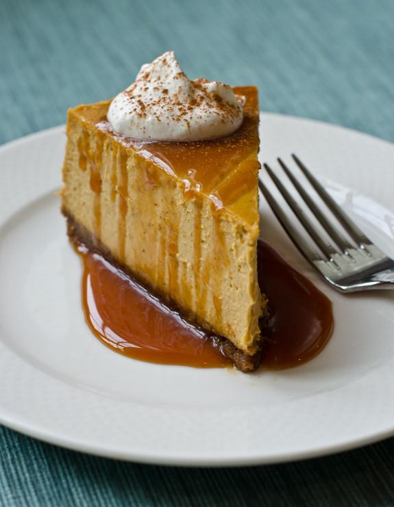 Pumpkin Cheesecake Recipe  Pumpkin Cheesecake with Gingersnap Crust and Caramel Sauce