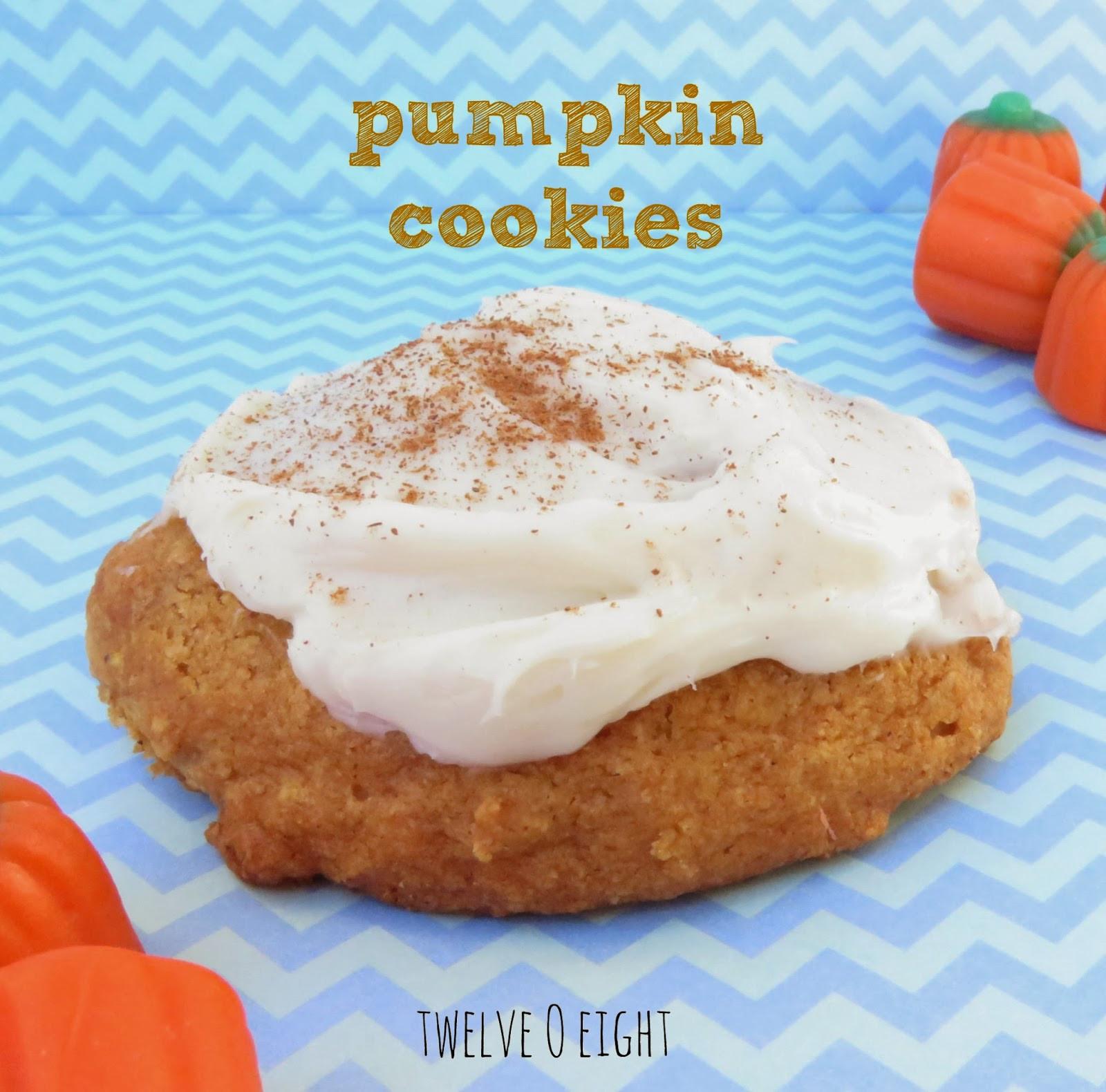Pumpkin Cookies Recipe  Pumpkin Cookie Recipe with Cream Cheese Frosting