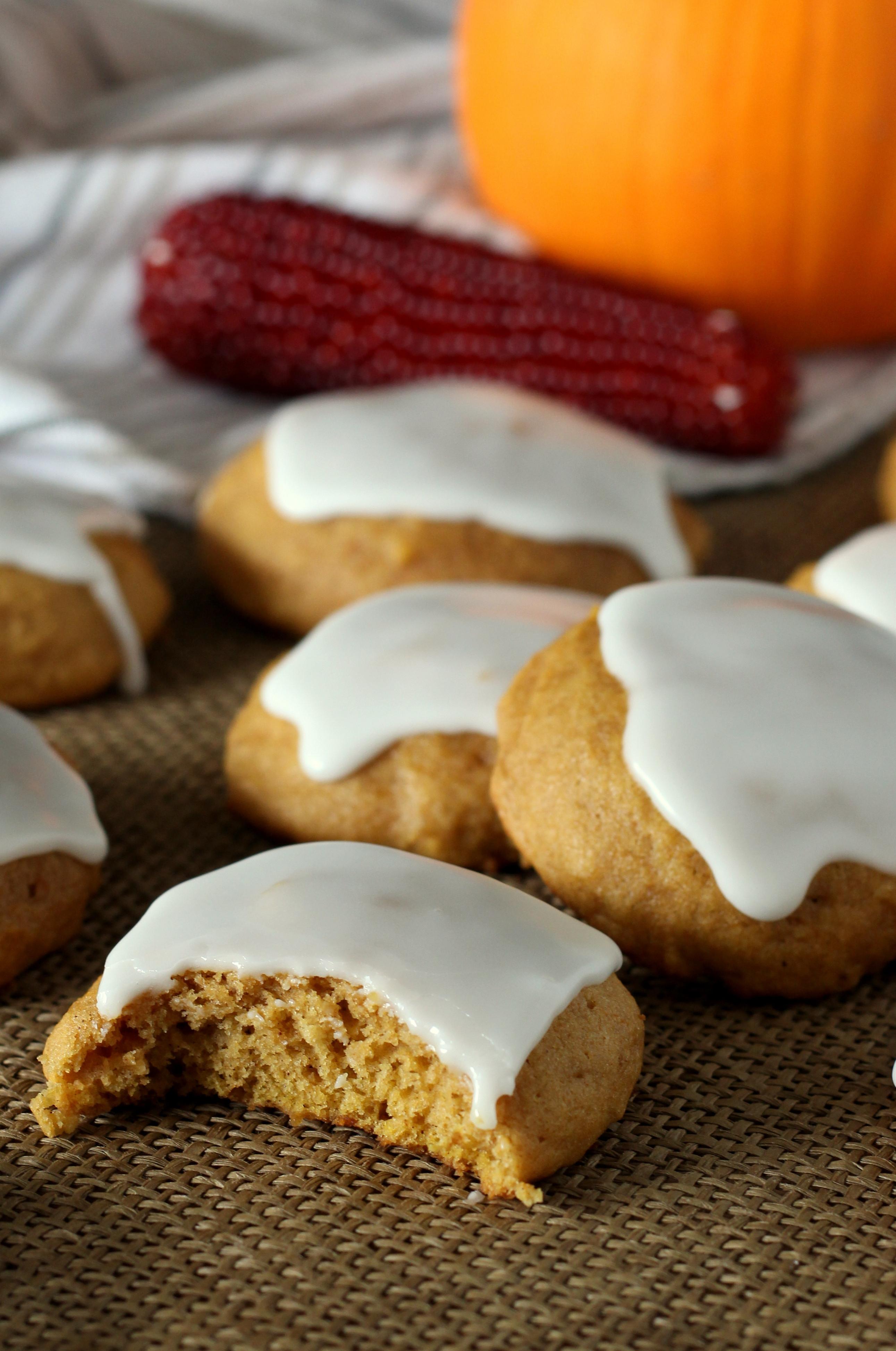 Pumpkin Cookies Recipe  Famous Soft Glazed Pumpkin Cookies Chocolate With Grace