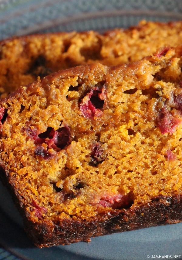 Pumpkin Cranberry Bread  Jam Hands Libby s Ridiculously Moist Pumpkin Cranberry Bread