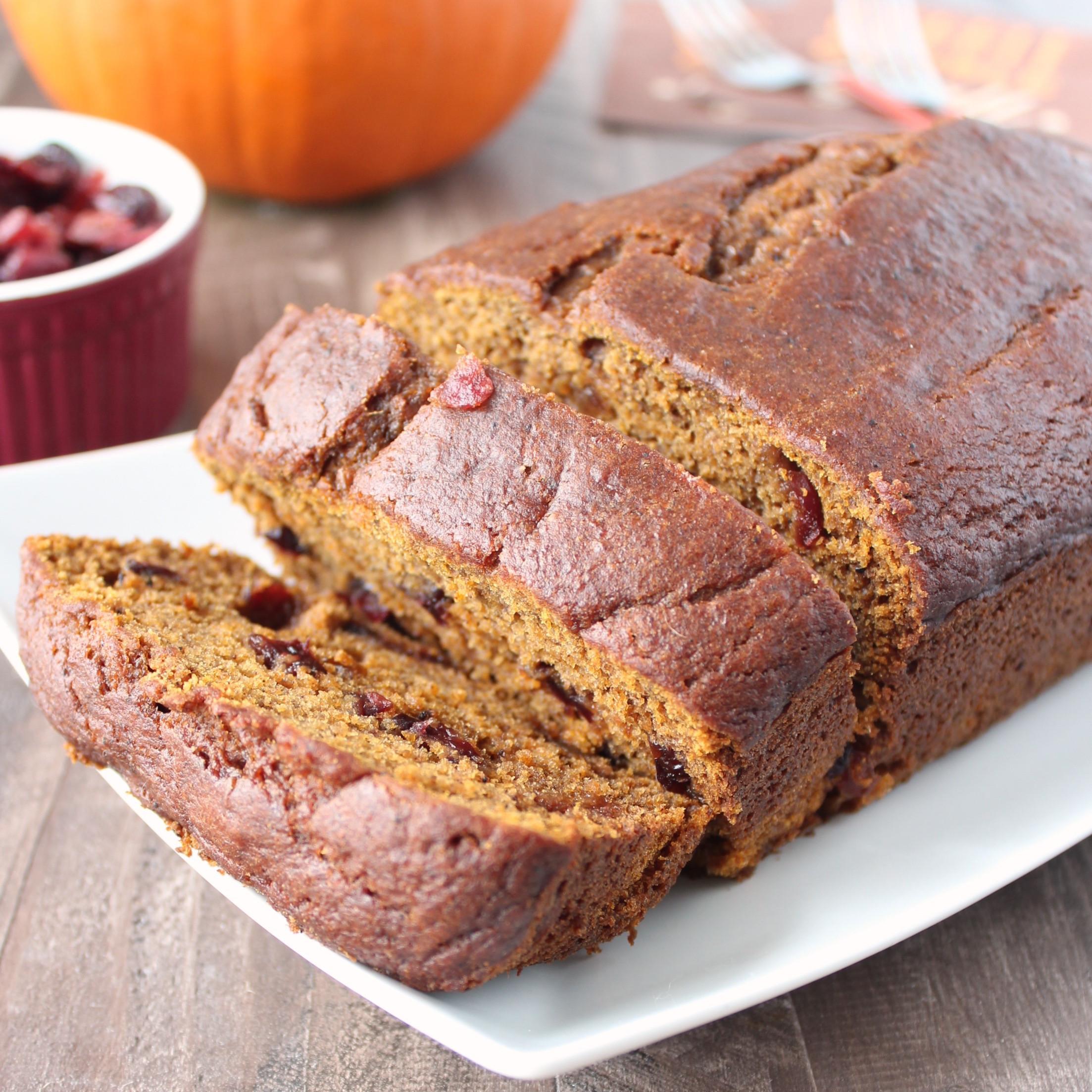Pumpkin Cranberry Bread  Cranberry Pumpkin Bread WhitneyBond