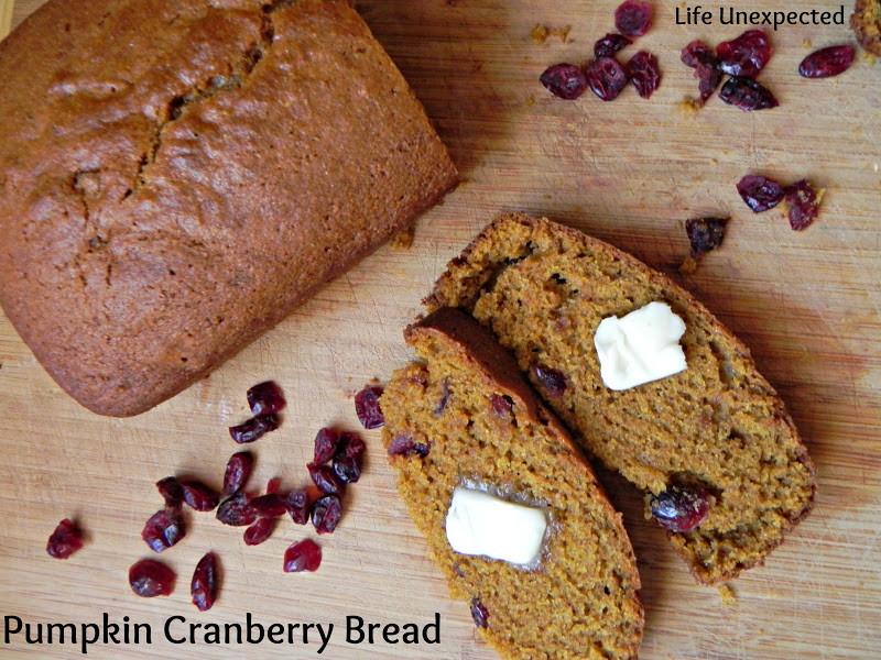 Pumpkin Cranberry Bread  Life Unexpected Pumpkin Cranberry Bread