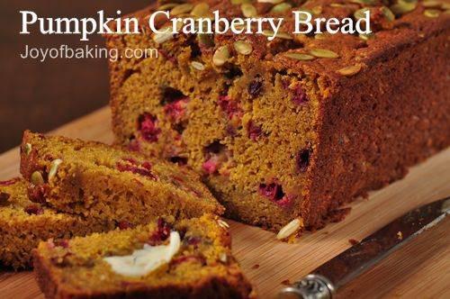 Pumpkin Cranberry Bread  Pumpkin Cranberry Bread Recipe Joyofbaking Tested