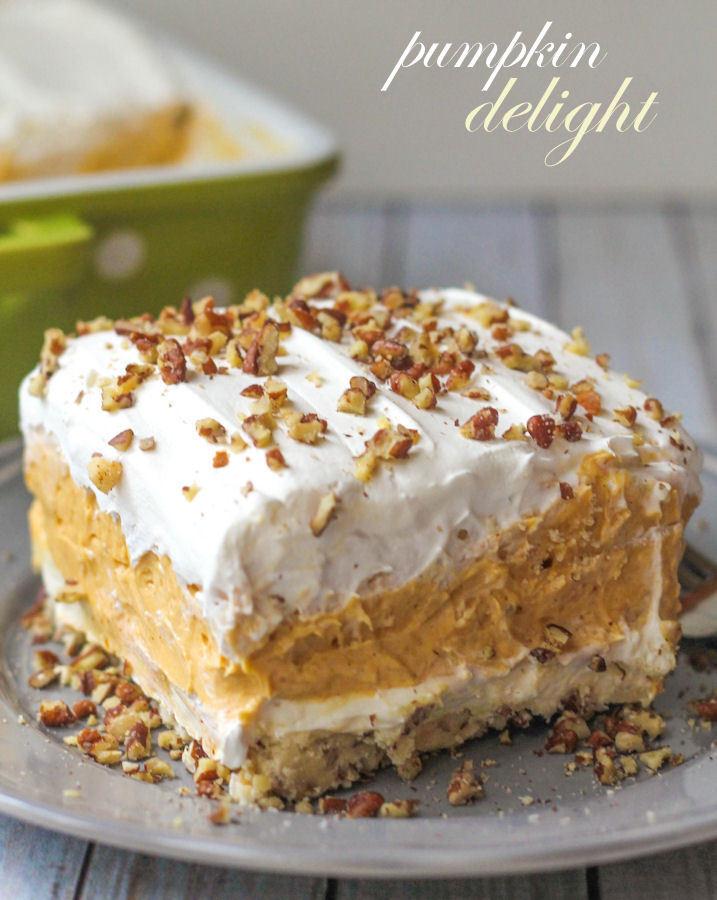 Pumpkin Cream Cheese Dessert  BEST Pumpkin Delight