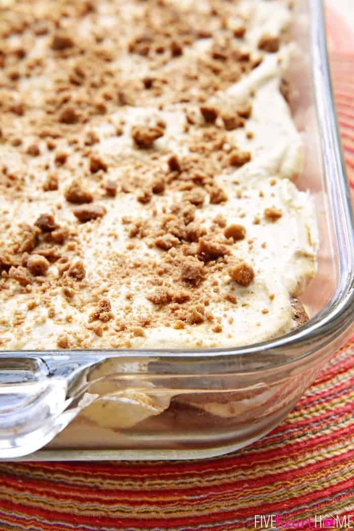 Pumpkin Cream Cheese Dessert  Pumpkin Gingersnap Icebox Cake