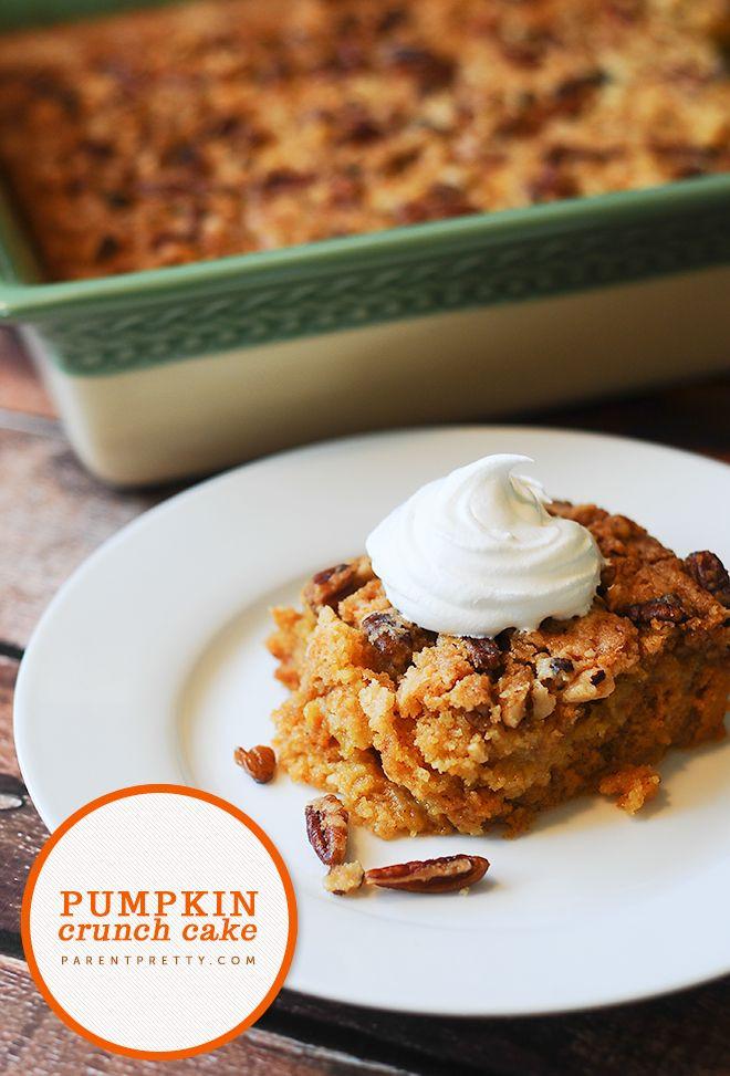 Pumpkin Crunch Cake Recipe  40 Must Try Fall Ideas