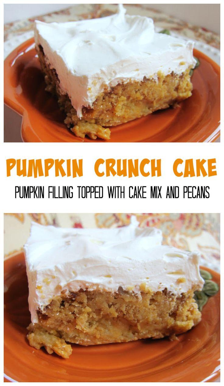 Pumpkin Crunch Cake Recipe  Best 25 Pumpkin crunch cake ideas on Pinterest