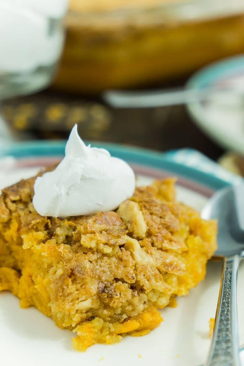 Pumpkin Crunch Cake Recipe  The Best Pumpkin Crunch Cake Recipe Ever Play Party Plan