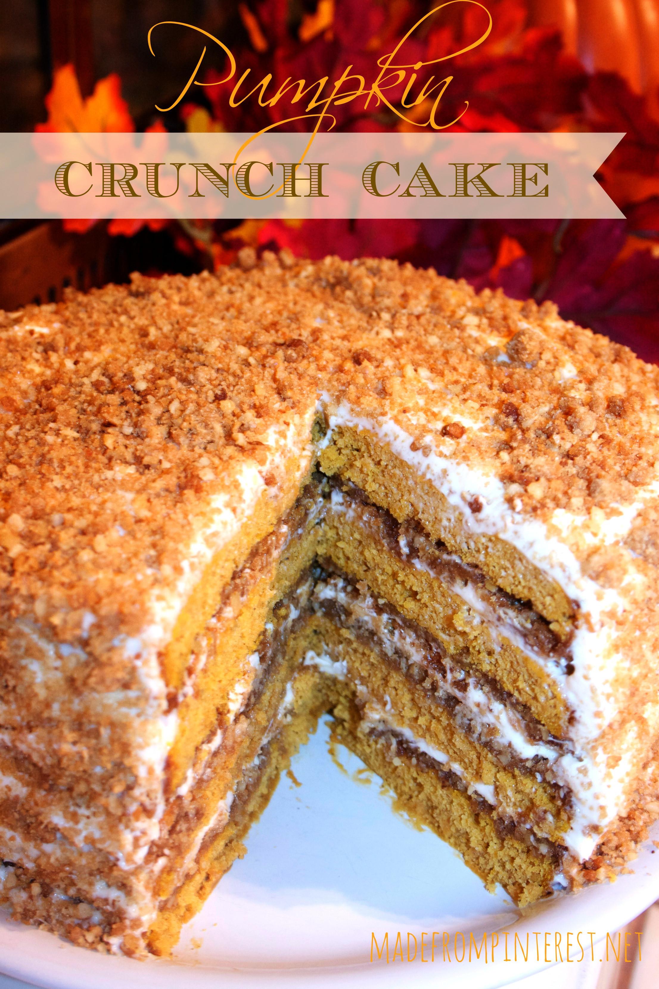 Pumpkin Crunch Cake Recipe  Pumpkin Crunch Cake with Cream Cheese Frosting TGIF