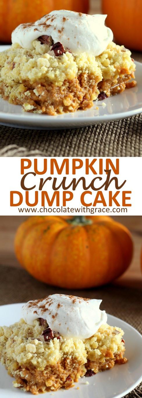 Pumpkin Crunch Cake Recipe  Pumpkin Crunch Dump Cake Chocolate with Grace
