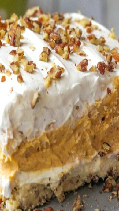 Pumpkin Dessert Pinterest  Layered Pumpkin Dessert Cakes Cheesecakes
