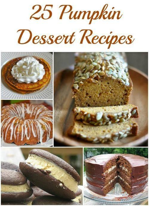 Pumpkin Dessert Recipes Easy  PUMPKIN DESSERT IDEAS