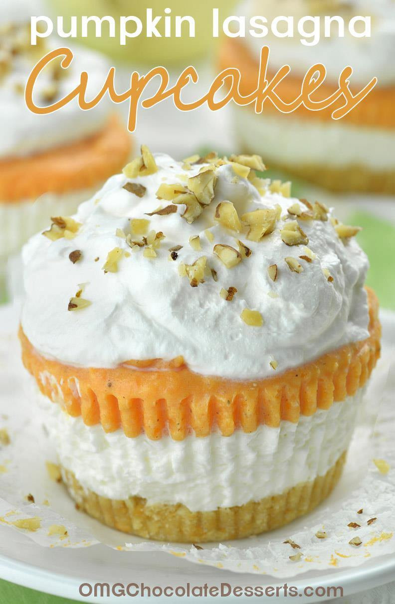 Pumpkin Desserts Recipes  Pumpkin Lasagna Cupcakes