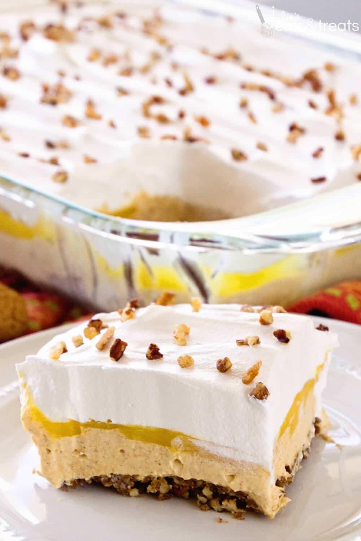 Pumpkin Lasagna Dessert  Pumpkin Lasagna Dessert Julie s Eats & Treats