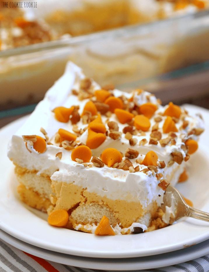Pumpkin Lasagna Dessert  Pumpkin Pie Dessert Lasagna The Cookie Rookie