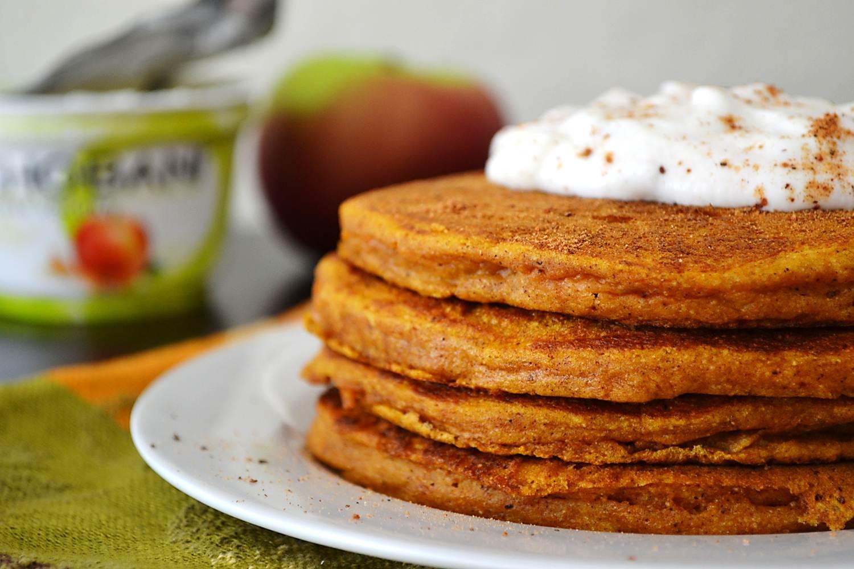 Pumpkin Pancakes Recipe  Apple Cinnamon Pumpkin Pancakes