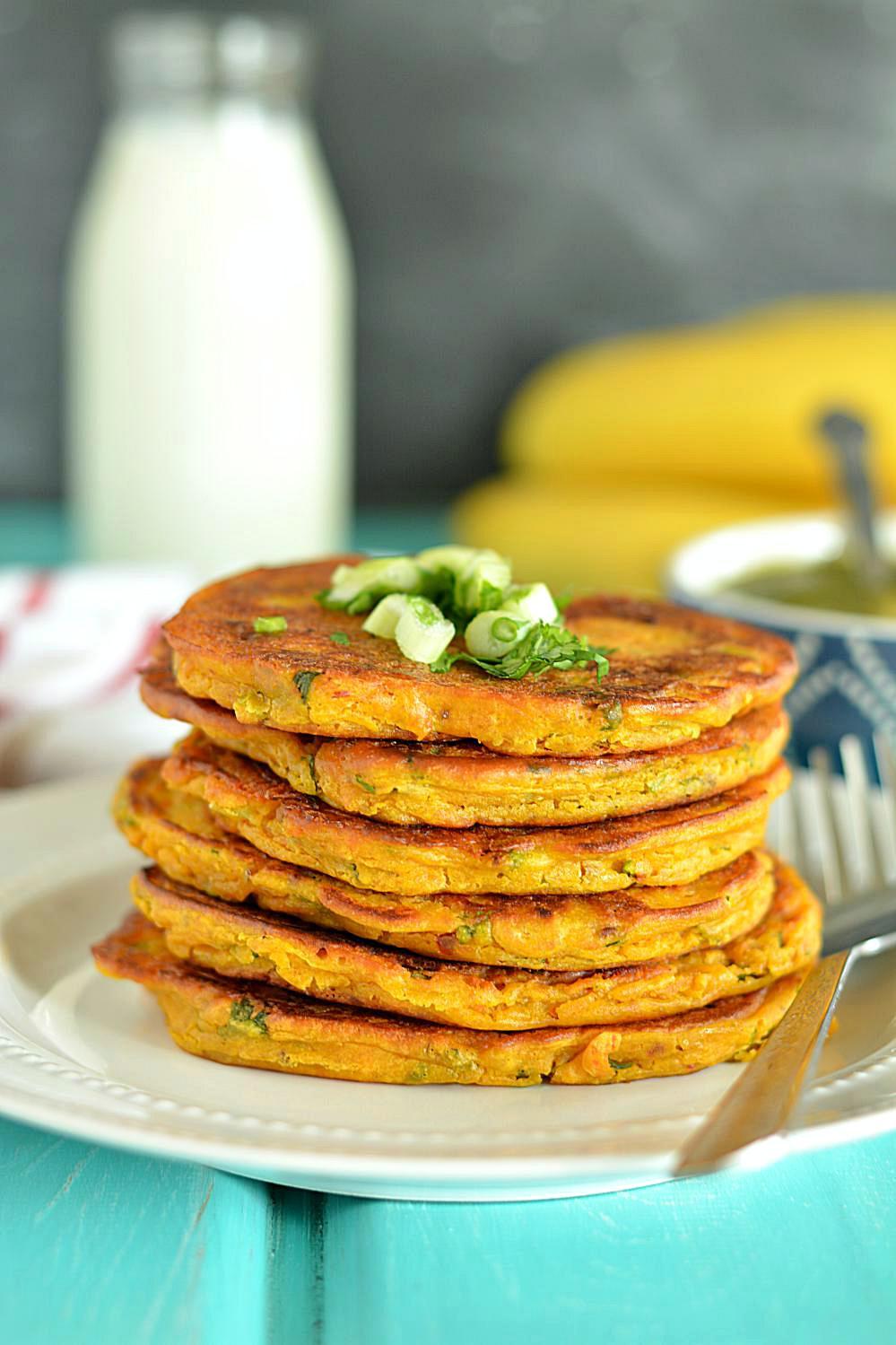 Pumpkin Pancakes Recipe  Savory Pumpkin Pancakes healthy veggie Pumpkin Pancakes