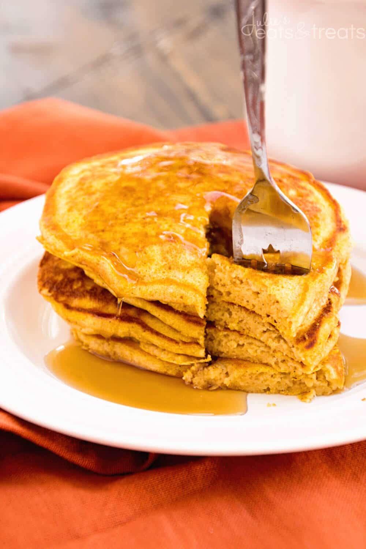 Pumpkin Pancakes Recipe  Pumpkin Spice Pancakes Recipe Julie s Eats & Treats