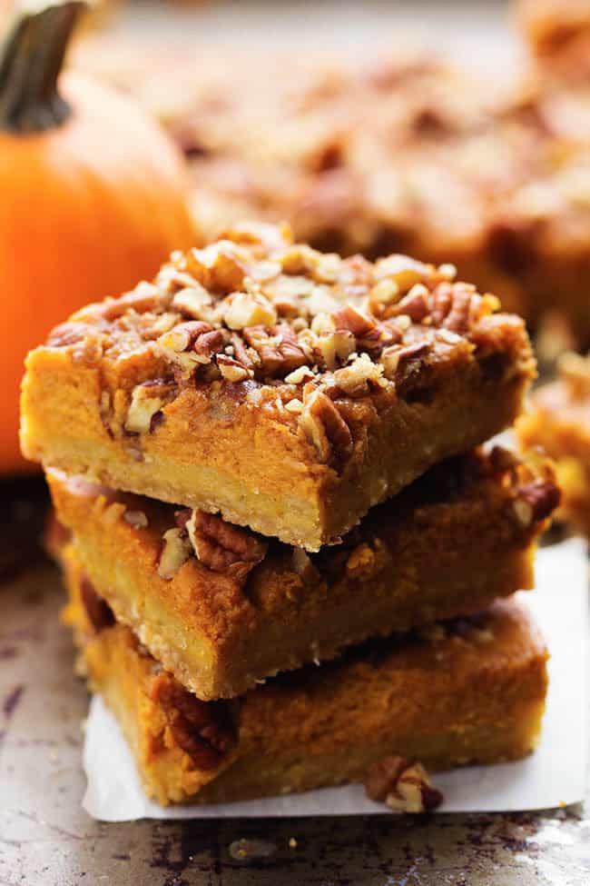 Pumpkin Pie Bars  pumpkin pie bars