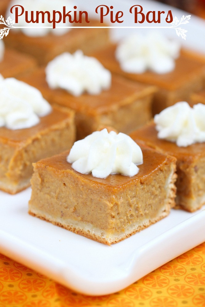 Pumpkin Pie Bars  Pumpkin pie bars recipe
