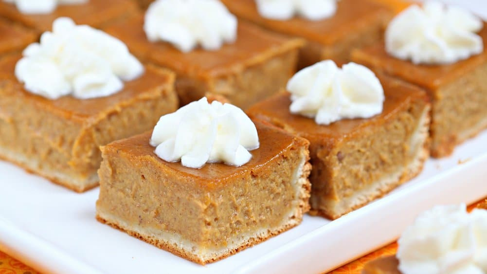 Pumpkin Pie Bars  Pumpkin Pie Bars How To from Pillsbury