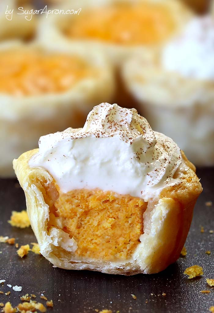 Pumpkin Pie Bite  Easy Pumpkin Pie Bites Sugar Apron