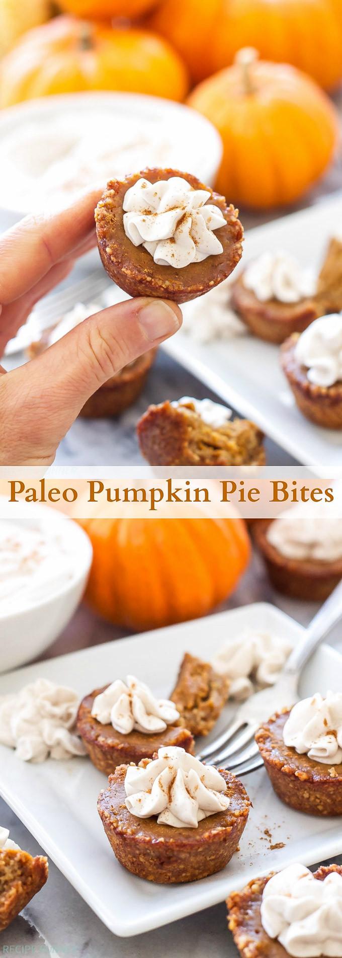 Pumpkin Pie Bite  Paleo Pumpkin Pie Bites Recipe Runner