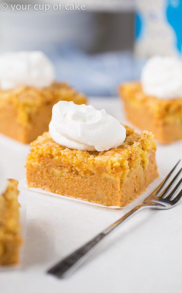 Pumpkin Pie Cake Recipe  Magic Pumpkin Pie Cake Your Cup of Cake