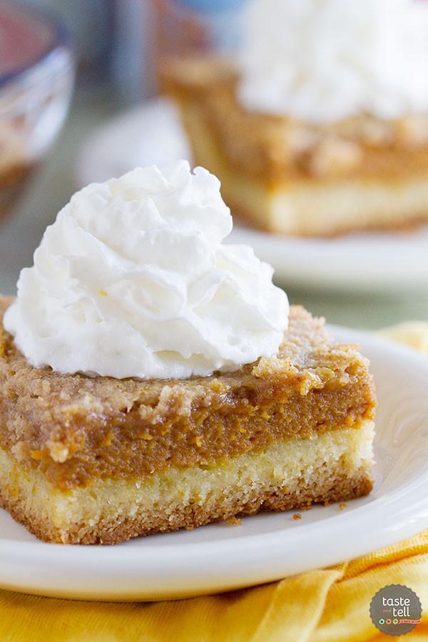 Pumpkin Pie Cake Recipe  pumpkin torte yellow cake mix