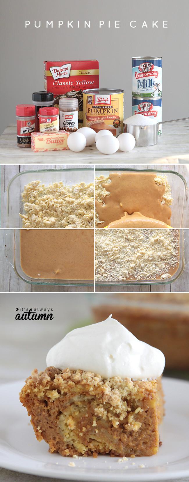 Pumpkin Pie Cake Recipe  easy pumpkin pie cake recipe better than pumpkin pie