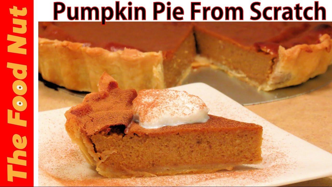 Pumpkin Pie Filling From Scratch  Homemade Pumpkin Pie From Scratch Recipe How To Make