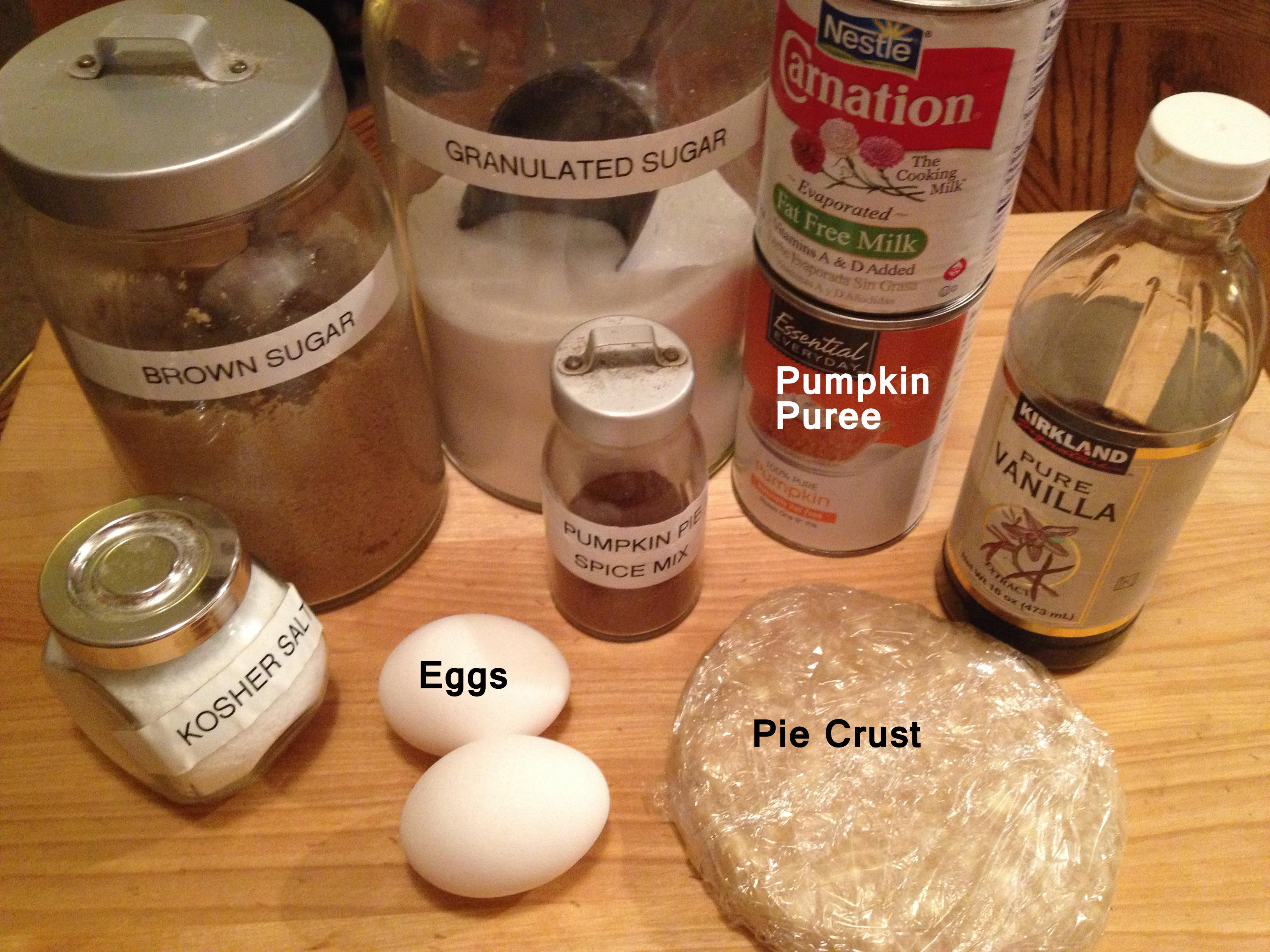 Pumpkin Pie Ingredients  pumpkin pie ingre nts