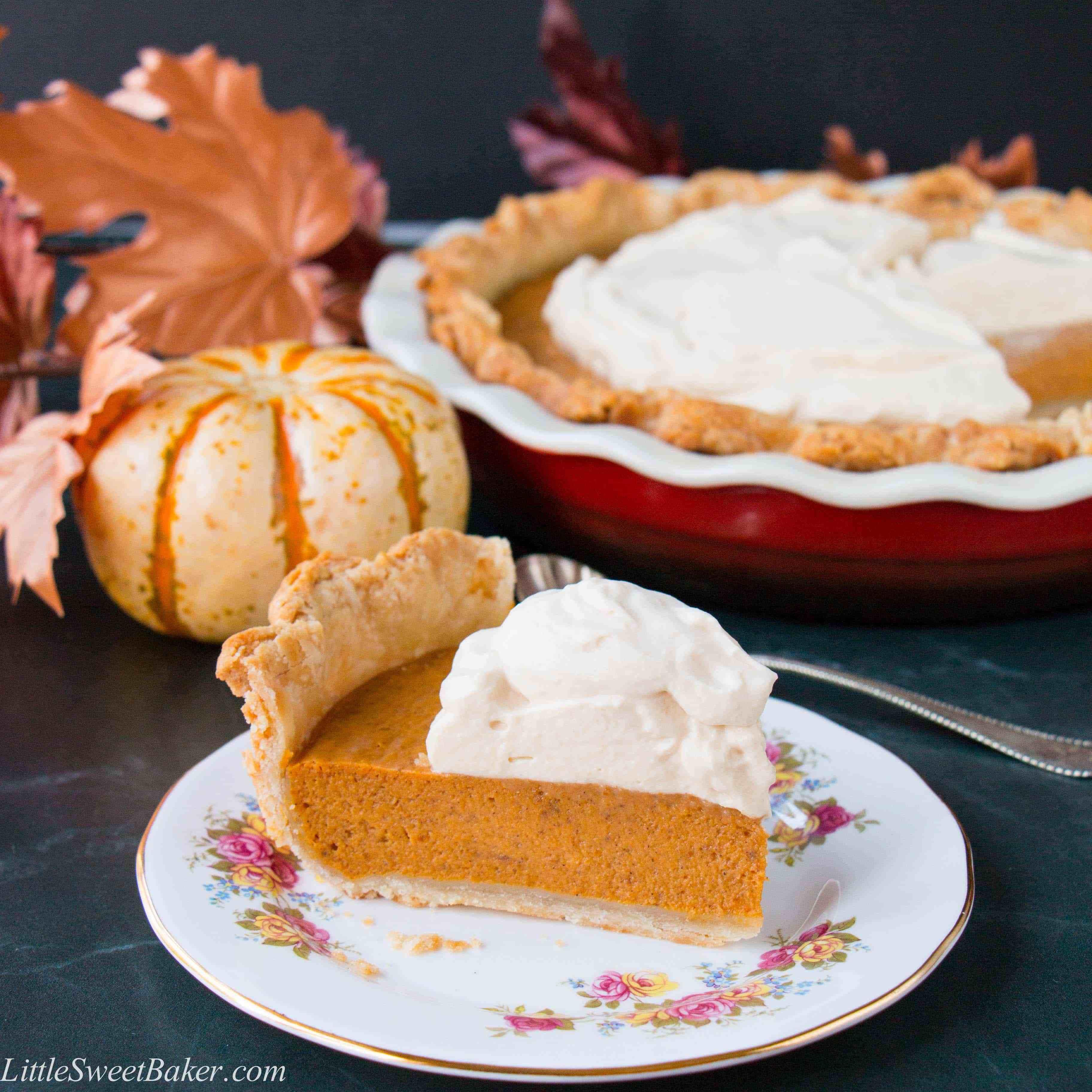 Pumpkin Pie Ingredients  Pumpkin Pie with Salted Caramel Whipped Cream video