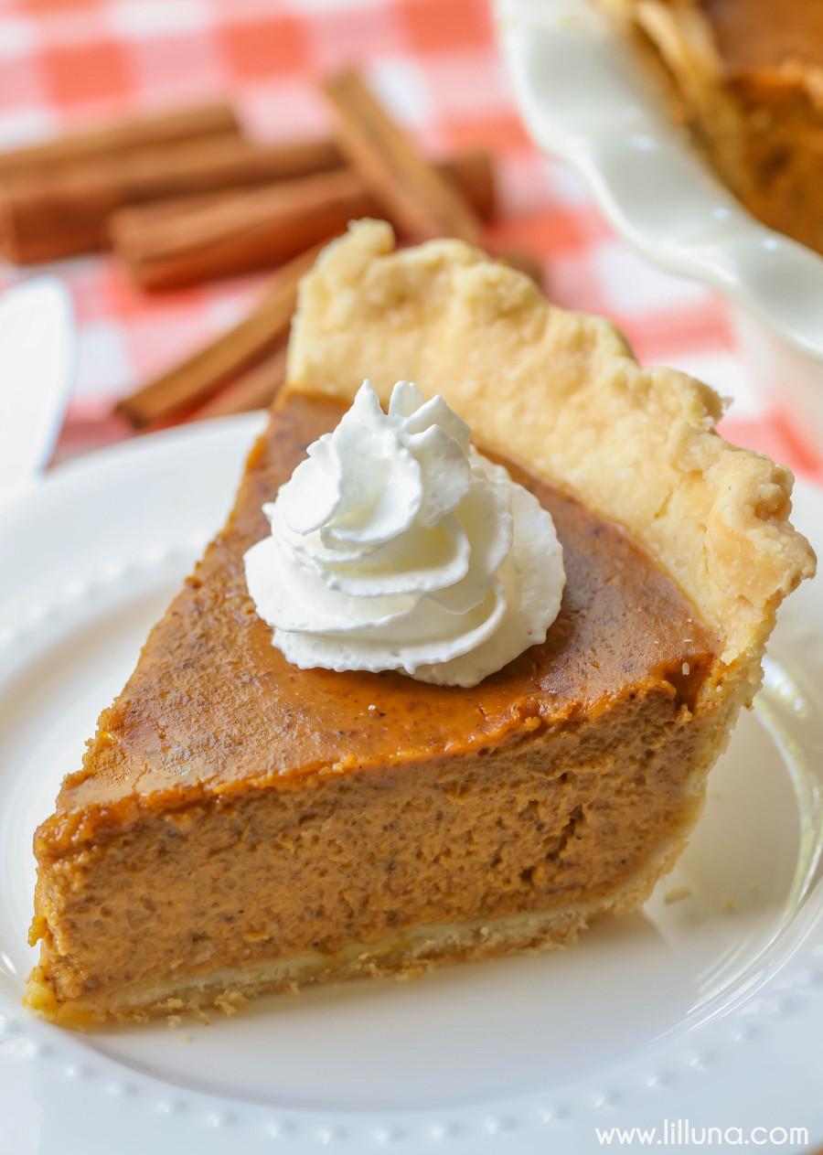 Pumpkin Pie Ingredients  EASY Homemade Pumpkin Pie Recipe