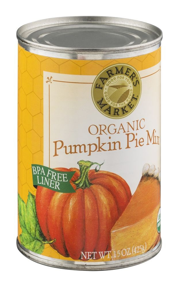 Pumpkin Pie Mix  Farmer s Market Organic Canned Pumpkin Pie Mix 15 oz