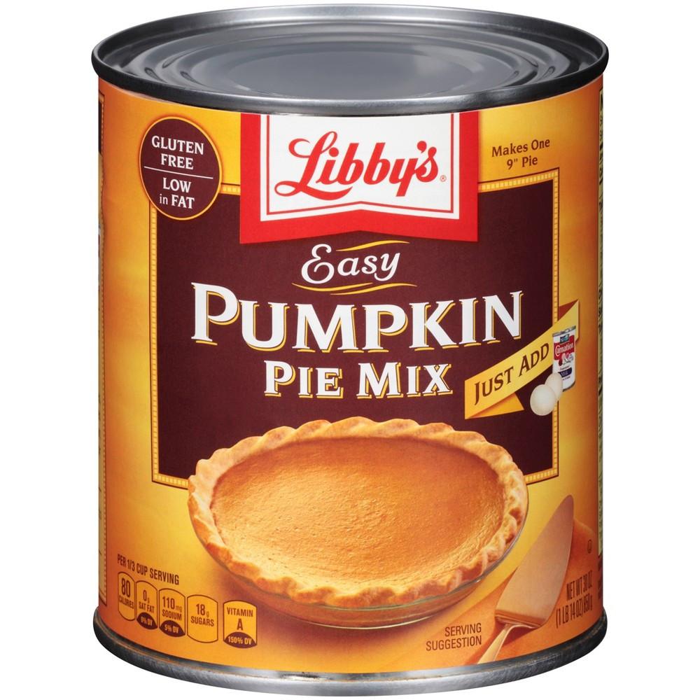 Pumpkin Pie Mix  UPC Libbys Easy Pumpkin Pie Mix 1 Can 30