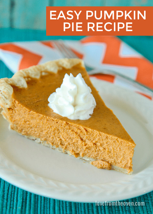 Pumpkin Pie Recipe Easy  easy pumpkin pie recipe without evaporated milk