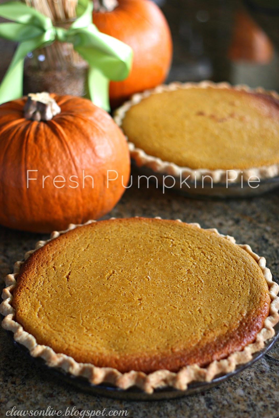 Pumpkin Pie Recipe With Real Pumpkin  Clawson Live Pumpkin Pie Made with a real pumpkin