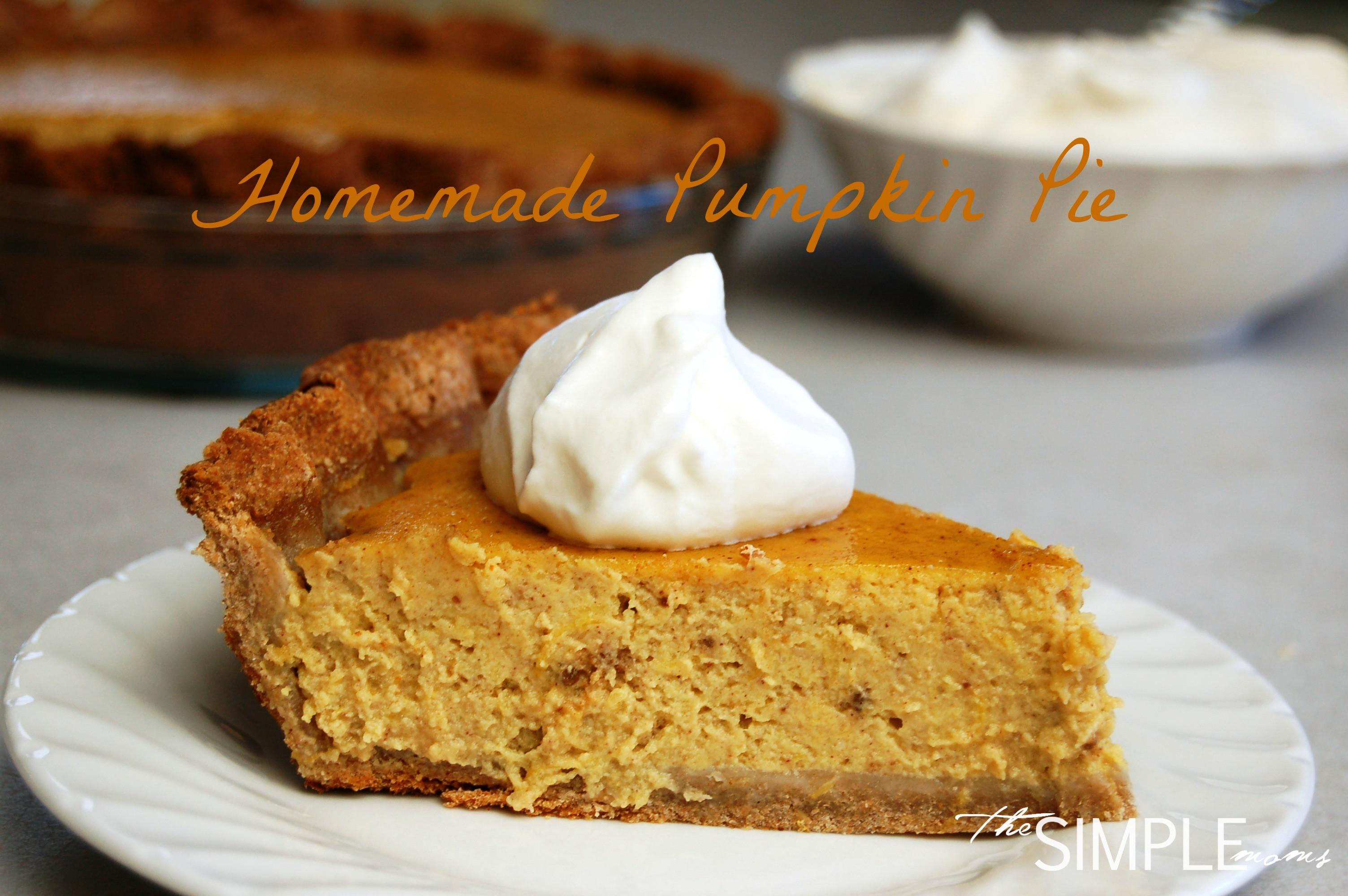 Pumpkin Pie Recipe With Real Pumpkin  a simple real food recipe pumpkin pie allergen free