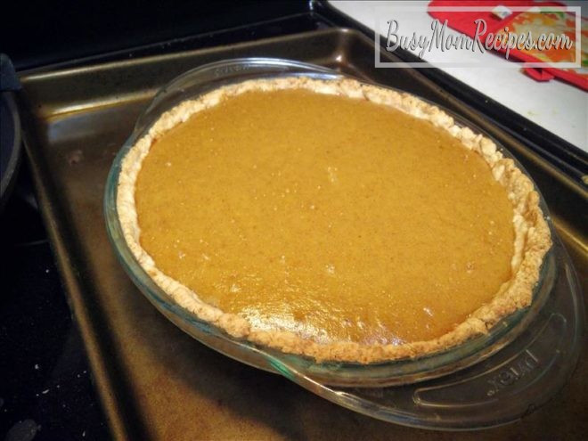 Pumpkin Pie With Coconut Milk  Coconut Pumpkin Pie Dairy Free Busy Mom Recipes