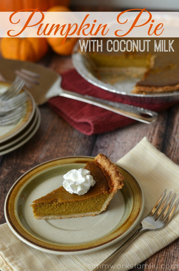 Pumpkin Pie With Coconut Milk  Pumpkin Pie with Coconut Milk