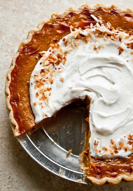 Pumpkin Pie With Coconut Milk  Pumpkin Pie with Coconut milk Orange Spice Coconut