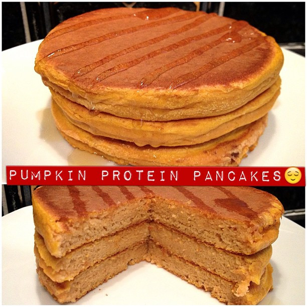 Pumpkin Protein Pancakes  Melfy Cooks Healthy Pumpkin Protein Pancakes
