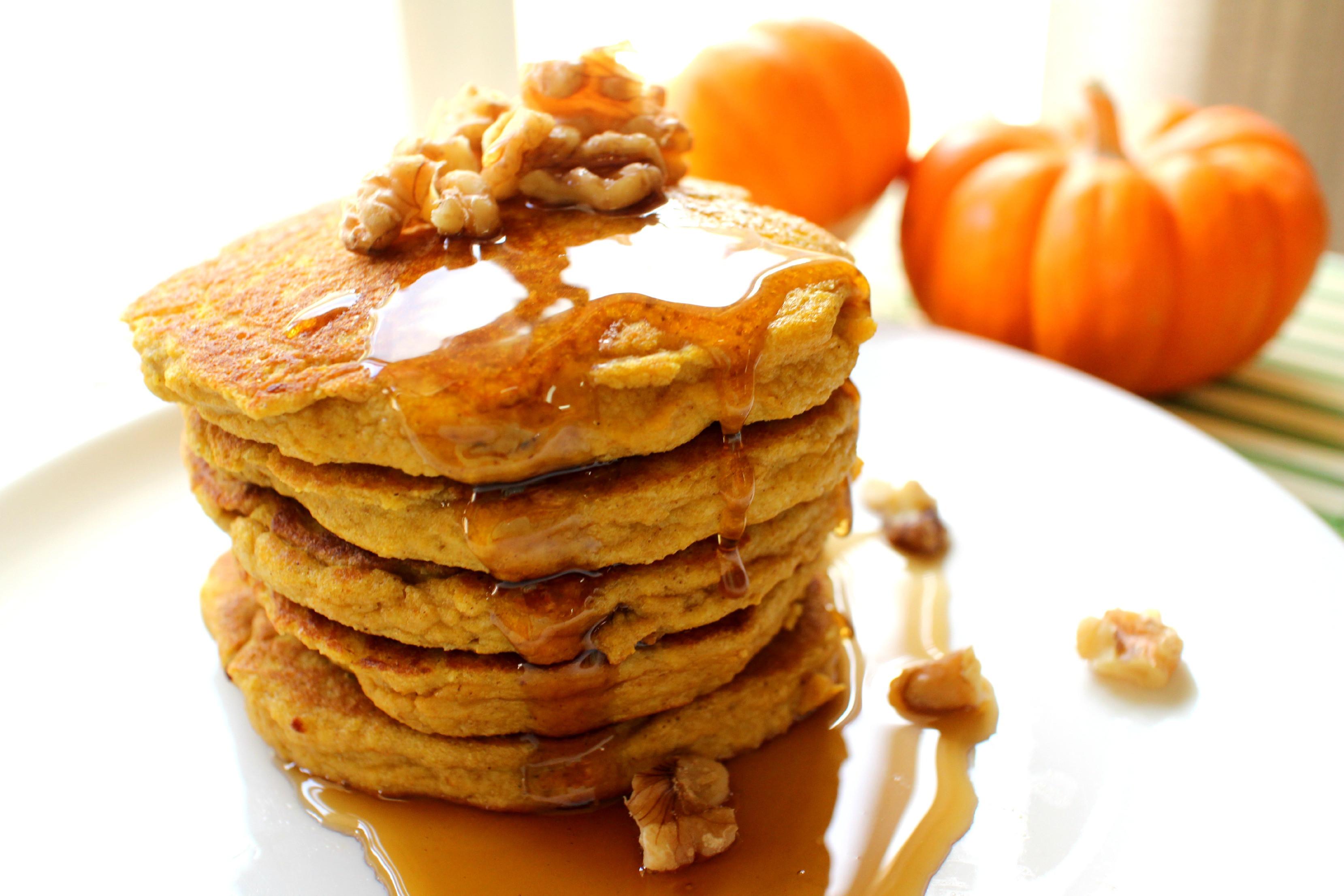 Pumpkin Protein Pancakes  Pumpkin Protein Pancakes