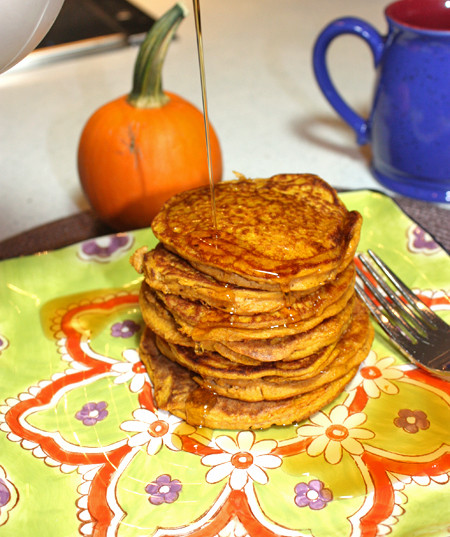 Pumpkin Protein Pancakes  Pumpkin Protein Pancakes Busy But Healthy