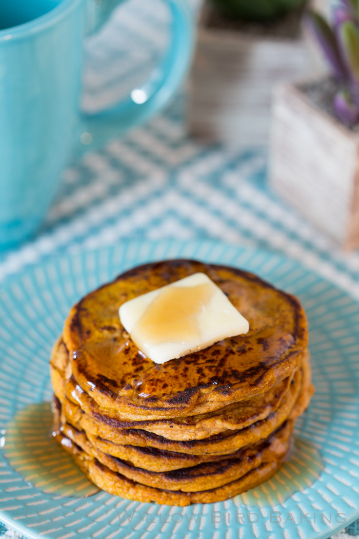 Pumpkin Protein Pancakes  Five Ingre nt Pumpkin Protein Pancakes low carb gluten