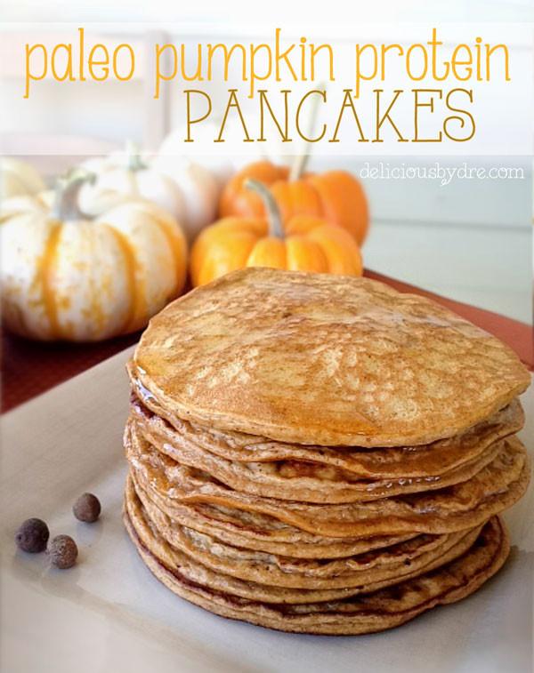 Pumpkin Protein Pancakes  healthy gluten free paleo pumpkin protein pancake recipe
