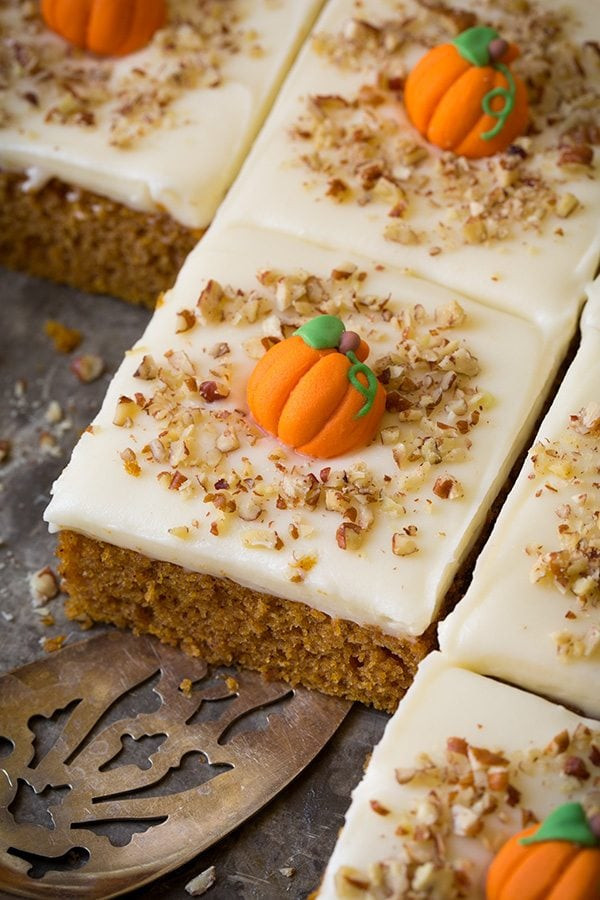 Pumpkin Sheet Cake  Pumpkin Sheet Cake with Cream Cheese Frosting Cooking Classy